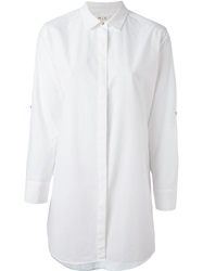 Mih Jeans Oversized Shirt White
