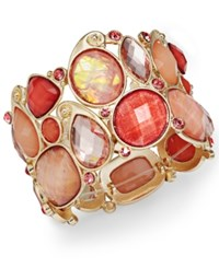 Styleandco. Style And Co. Gold Tone Coral Stone Bracelet