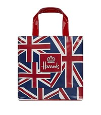 Harrods Small Vintage Flag Shopper Bag Unisex