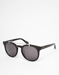 Vivienne Westwood Anglomania Round Bar Detail Sunglasses Black