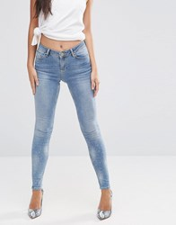 Asos Lisbon Mid Rise Jeans In Zoe Wash Mid Wash Blue