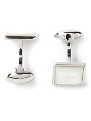 Mulberry Logo Plaque Cufflinks Metallic