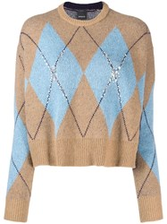 Pinko Glitter Knit Jumper Brown