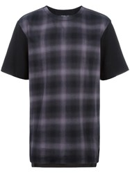 Helmut Lang Plaid T Shirt Black