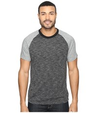 Kenneth Cole Color Block Melange Crew Charcoal Heather Men's T Shirt Gray