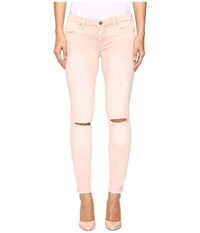 Blank Nyc Blush Pink Distressed Crop Skinny In Blink Pink Blink Pink Women's Jeans