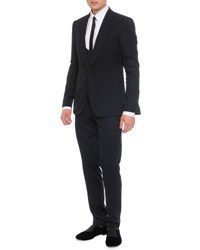 Dolce And Gabbana 3 Piece Shawl Collar Suit Black