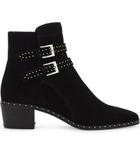 The Kooples Studded Suede Ankle Boots Bla01
