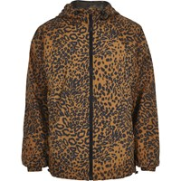 River Island Brown Leopard Print Hooded Jacket