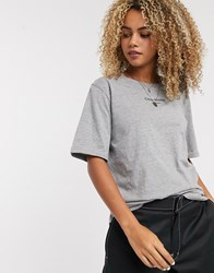 Cheap Monday Perfect T Shirt With Text Logo Grey