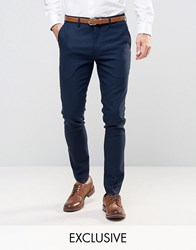 Only And Sons Super Skinny Smart Trousers Navy