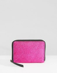 Asos Leather Faux Pony Coin Purse Pink