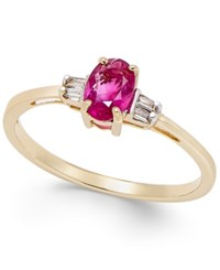 Macy's Ruby 5 8 Ct. T.W. And Diamond Accent Ring In 14K Gold