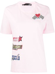 Love Moschino Sticker Print Crew Neck T Shirt 60