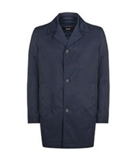 Boss Quilted Raincoat Navy