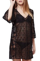 Women's Topshop Lace Cover Up Caftan