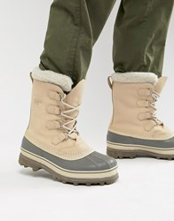 Sorel Caribou Snow Boots In Beige