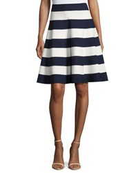 Milly Striped Flared Circle Skirt Multi