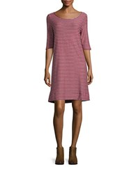 Free People Frenchie Back Cutout Striped Shift Dress Red