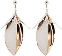 Proenza Schouler Gold And Silver Leaf Earrings