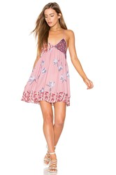 Free People All Mixed Up Slip Pink