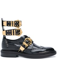 Versace Buckled Derby Shoes Black