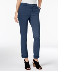Styleandco. Style Co. Petite Chino Boyfriend Pants Only At Macy's New Uniform Blue
