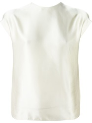 Lanvin Short Sleeve Top Nude And Neutrals