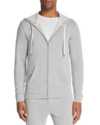 Velvet By Graham And Spencer Everet Luxe Zip Hoodie Heather Gray