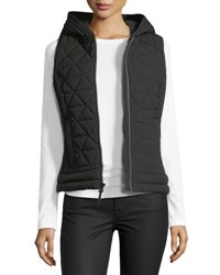 Marc New York Sage Hooded Quilted Vest Black