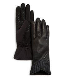 Urban Research Ur Julien Leather Tech Gloves Black