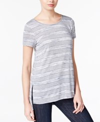 Kensie Striped High Low T Shirt A Macy's Exclusive Navy Combo