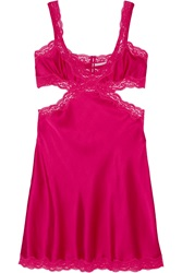 Stella Mccartney Clara Whispering Lace Trimmed Stretch Silk Chemise