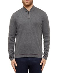 Ted Baker Mario Half Zip Sweater Charcoal