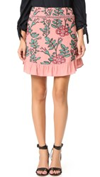 For Love And Lemons Mia Miniskirt Mauve Floral