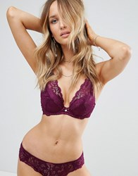 Gossard High Apex Lace Plunge Bra Dark Purple