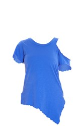 Lna Cutout Shoulder Tee Blue
