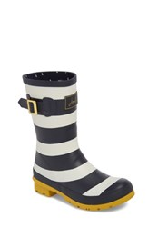 Joules 'Molly' Rain Boot Navy Wide Stripe