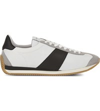 Sandro Tx 02 Leather Trainers White