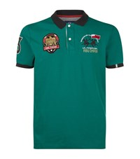 La Martina Logo Polo Shirt Male Green