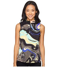 Jamie Sadock Galaxy Print Sleeveless Top Licorice Women's Sleeveless Multi