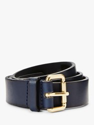 Boden Classic Leather Buckle Belt Navy