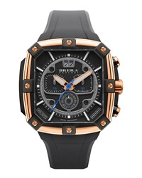 46Mm Supersportivo Square Watch Black Rose Gold Brera