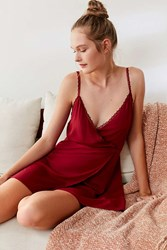 Out From Under Blue Bell Slip Maroon