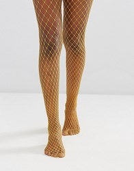 Gipsy Extra Large Fishnet Tights Yellow