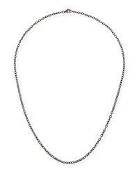 Margo Morrison Rhodium Plated Sterling Silver Chain Necklace 24