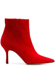 Marc Ellis Pointed Ankle Boots Red