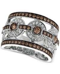 Macy's Le Vian Chocolatier Chocolate Deco Estate Diamond Ring 1 1 4 Ct. T.W. In 14K White Gold