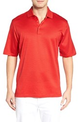 Bugatchi Men's Two Tone Polo Ruby