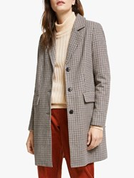 Y.A.S Liso Checked Wool Blend Coat Black Multi